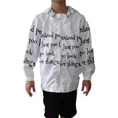 Lazy Hooded Wind Breaker (Kids)
