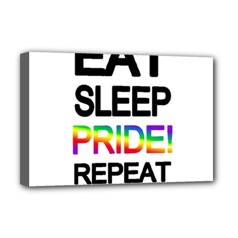 Eat sleep pride repeat Deluxe Canvas 18  x 12