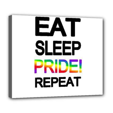 Eat sleep pride repeat Deluxe Canvas 24  x 20