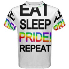 Eat sleep pride repeat Men s Cotton Tee