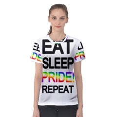 Eat sleep pride repeat Women s Sport Mesh Tee