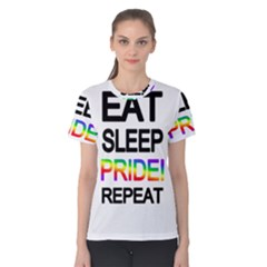 Eat sleep pride repeat Women s Cotton Tee