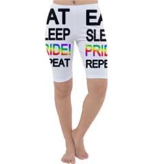 Eat sleep pride repeat Cropped Leggings