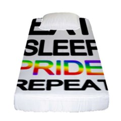 Eat sleep pride repeat Fitted Sheet (Single Size)