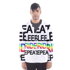 Eat sleep pride repeat Hooded Wind Breaker (Men)