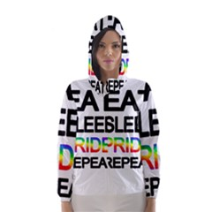 Eat sleep pride repeat Hooded Wind Breaker (Women)