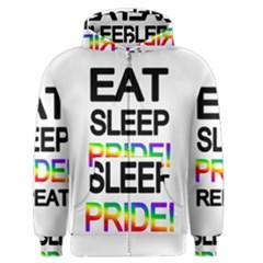 Eat sleep pride repeat Men s Zipper Hoodie