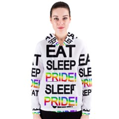 Eat sleep pride repeat Women s Zipper Hoodie