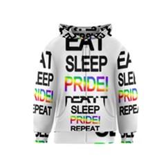 Eat sleep pride repeat Kids  Zipper Hoodie
