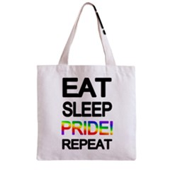 Eat sleep pride repeat Zipper Grocery Tote Bag