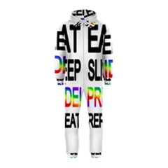 Eat sleep pride repeat Hooded Jumpsuit (Kids)