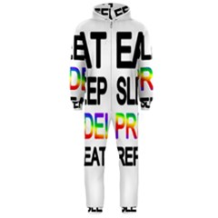 Eat sleep pride repeat Hooded Jumpsuit (Men)