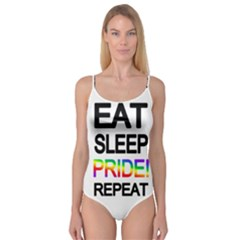 Eat sleep pride repeat Camisole Leotard