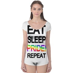 Eat sleep pride repeat Boyleg Leotard