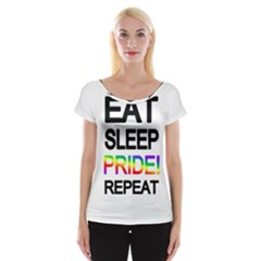 Eat sleep pride repeat Women s Cap Sleeve Top