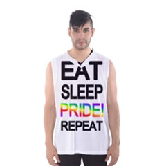 Eat sleep pride repeat Men s Basketball Tank Top