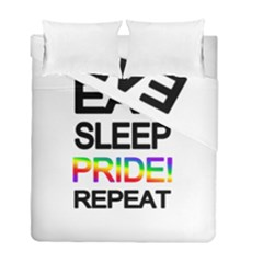 Eat sleep pride repeat Duvet Cover Double Side (Full/ Double Size)