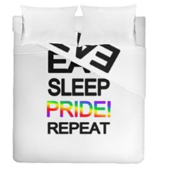 Eat sleep pride repeat Duvet Cover Double Side (Queen Size)