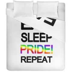 Eat sleep pride repeat Duvet Cover Double Side (California King Size)