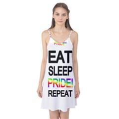 Eat sleep pride repeat Camis Nightgown