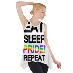 Eat sleep pride repeat Side Drop Tank Tunic