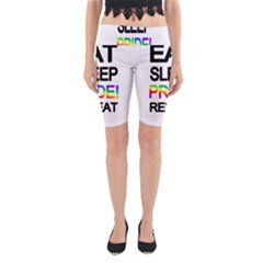 Eat sleep pride repeat Yoga Cropped Leggings