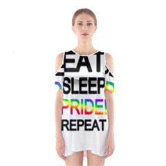 Eat sleep pride repeat Shoulder Cutout One Piece