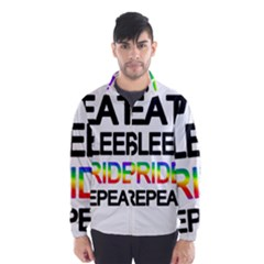 Eat sleep pride repeat Wind Breaker (Men)