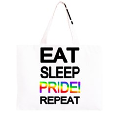 Eat sleep pride repeat Zipper Large Tote Bag