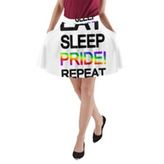 Eat sleep pride repeat A-Line Pocket Skirt