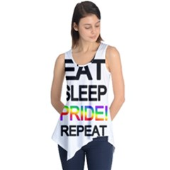 Eat sleep pride repeat Sleeveless Tunic