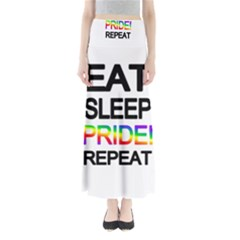 Eat sleep pride repeat Maxi Skirts