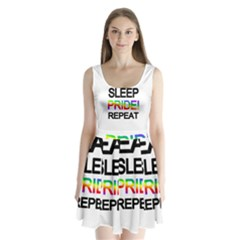 Eat sleep pride repeat Split Back Mini Dress