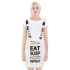 Eat sleep pride repeat Suspender Skirt