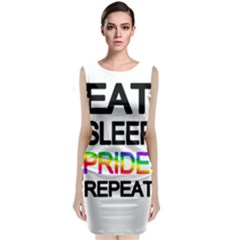 Eat sleep pride repeat Sleeveless Velvet Midi Dress