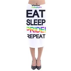 Eat sleep pride repeat Velvet Midi Pencil Skirt