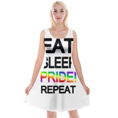 Eat sleep pride repeat Reversible Velvet Sleeveless Dress
