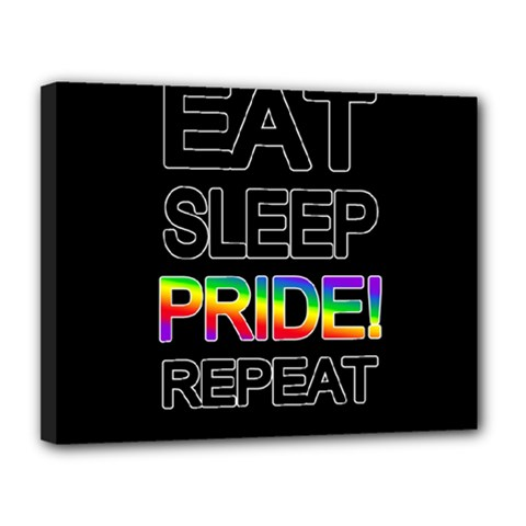 Eat sleep pride repeat Canvas 14  x 11