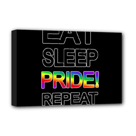 Eat sleep pride repeat Deluxe Canvas 18  x 12
