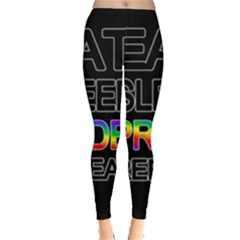Eat sleep pride repeat Leggings
