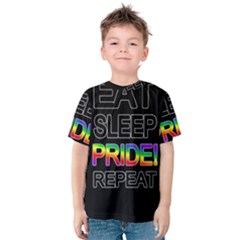 Eat sleep pride repeat Kids  Cotton Tee