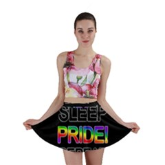 Eat sleep pride repeat Mini Skirt