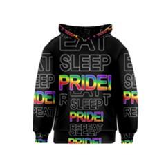 Eat sleep pride repeat Kids  Pullover Hoodie