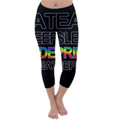 Eat sleep pride repeat Capri Winter Leggings