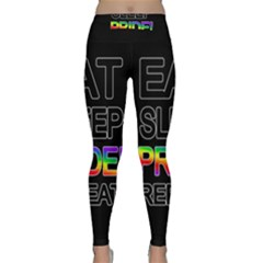 Eat sleep pride repeat Classic Yoga Leggings