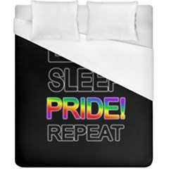 Eat sleep pride repeat Duvet Cover (California King Size)