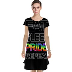Eat sleep pride repeat Cap Sleeve Nightdress