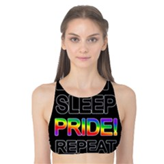 Eat sleep pride repeat Tank Bikini Top