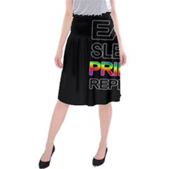 Eat sleep pride repeat Midi Beach Skirt