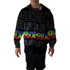 Eat sleep pride repeat Hooded Wind Breaker (Kids)